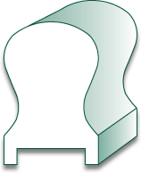 F8 Keyhole Hand Rail