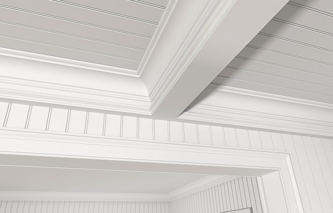3 Inches On Center Standard Bead, GSC512, 8577 (Coffered Ceiling), LK4 Casing