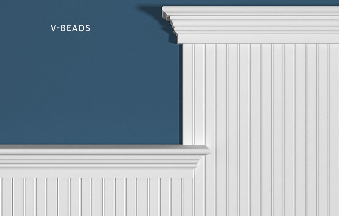 1-5/8 Inch On Center V-Bead, PLC634 Crown, Cap Combination: 1x4, SC214, FS312
