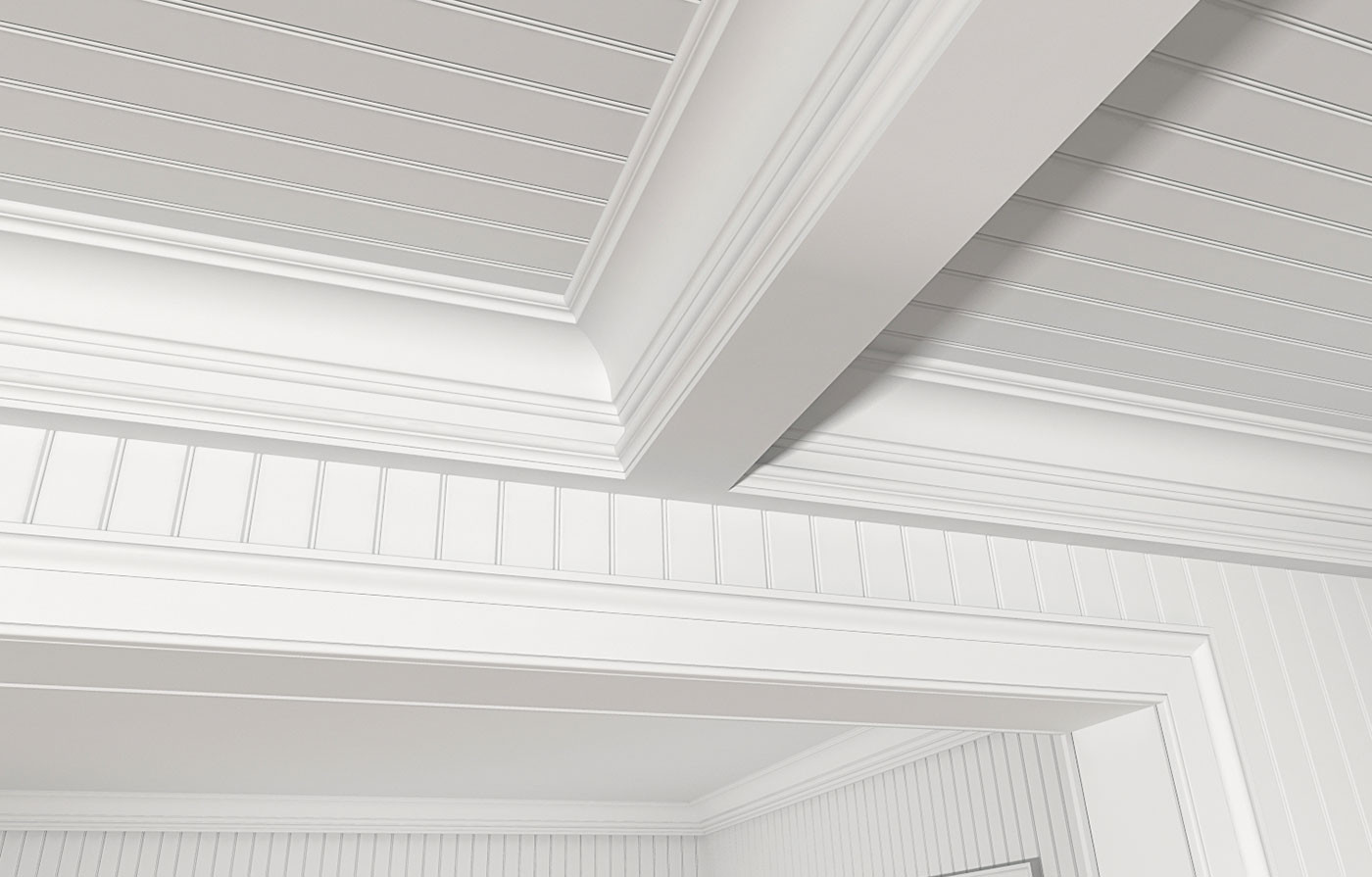 2-1/2 Inches On Center V-Bead, GSC512, 8577 (Coffered Ceiling), LK4 Casing